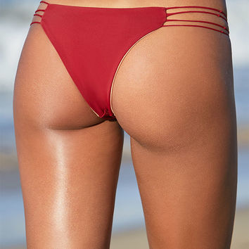 S.I.E SWIM Hudson Skinny Multi Strap Bikini Bottom at PacSun.com