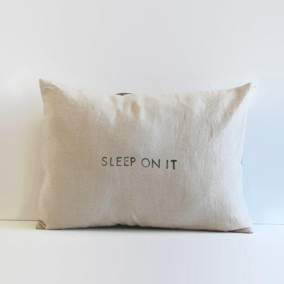 Throw Pillow With The Word Home On It : natural linen pillow cover // 12 x 16 from 645workshop on Etsy
