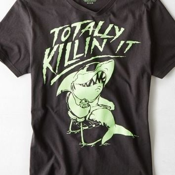 AEO Men's Totally Killin It Graphic T-shirt (Coal Grey)