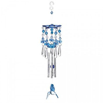Blue Hummingbird Wind Chime
