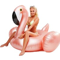 YUYU Rose Gold Inflatable Flamingo pool Float Tube pool Adult Giant swimming pool Swimming Ring Pool Toys swimming float