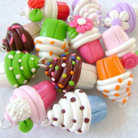 Cupcake Charms Custom Party Favors by Emariecreations on Etsy