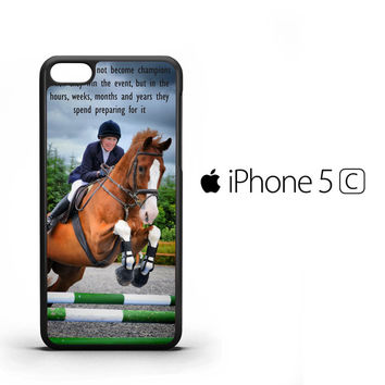 horse jumping photography Y2410 iPhone 5C Case