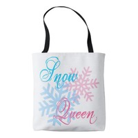 Snow Queen and snowflakes elegant Tote Bag