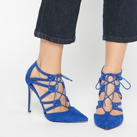 ASOS PACIFIC Wide Fit Lace Up Heels