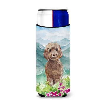 Mountian Flowers Labradoodle Michelob Ultra Hugger for slim cans CK1988MUK