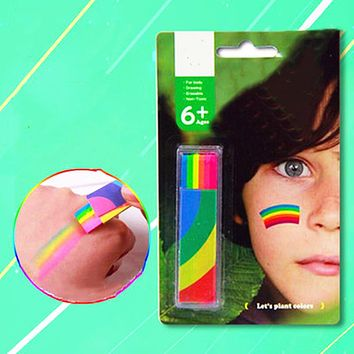 Body Painting UV Art Painting Makeup Paint Rainbow Art Tattoo Paint For The Face Paint Colored Child Kids Pen Halloween Party