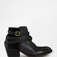 H by Hudson Horrigan Black Leather Ankle Boots