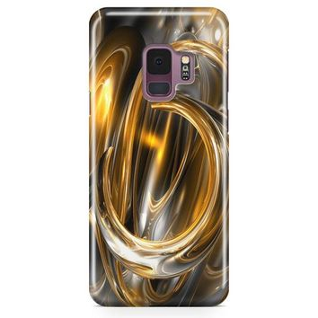 Gold Abstract Samsung Galaxy S9 Case | Casefantasy