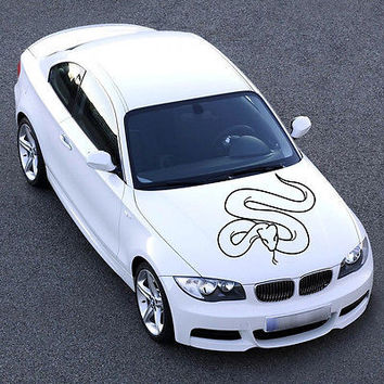 ANIMAL EVIL SNAKE, TAIL, DESIGN HOOD CAR VINYL STICKER DECALS ART MURALS SV1146