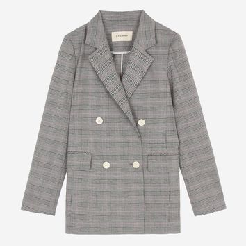 AMJA7B107P2 Pink Check Tailor Double Jacket