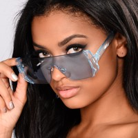 Love Me Or Nah Sunglasses - Blue