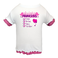 Speedway Princess White and Raspberry Double Ruffle Toddler T-Shirt | Gifts By Brenda