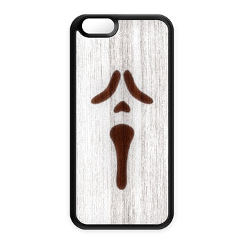 White Spray On Wood_Scarry Silicon Case for Apple iPhone 6 by Chargrilled