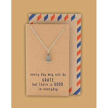 Vana Kitchen Charm Necklace, Funny Greeting Card, Gift for Chefs and Bakers