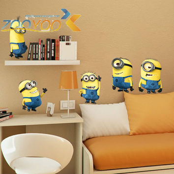 Despicable me 2 cute minions wall stickers for kids rooms