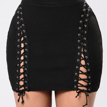 Get With Me Skirt - Black