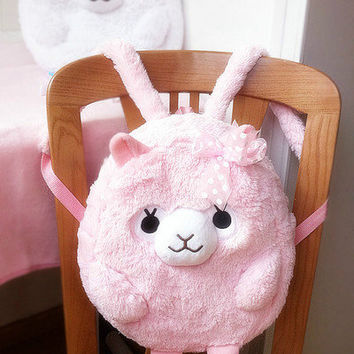 Amuse Pacalatta Alpacasso Arpakasso Alpaca Shoulder Bag Backpack Cute Case Plush