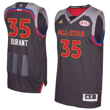 Men's Western Conference Kevin Durant adidas Charcoal 2017 NBA All-Star Game Swingman Jersey