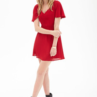 Cutout Flutter Sleeve Dress