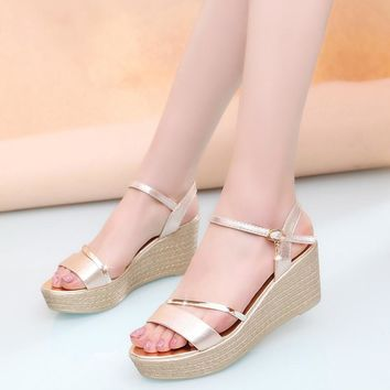 Women Sandals Fashion Superior Quality Comfortable Bohemian Wedges Women Sandals For L