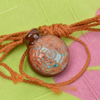 Handmade jewelry pendant necklace aromatherapy necklace essential oil diffuser