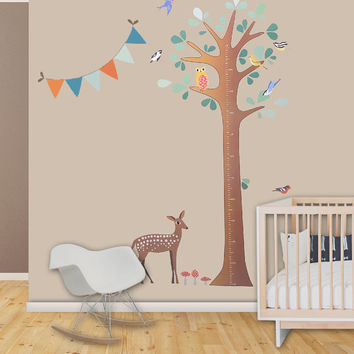 Tree Growth Chart / Children's Wall Decal