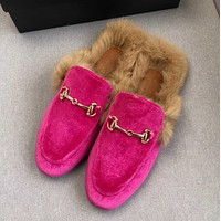 GuCCI  Rabbit hair slippers