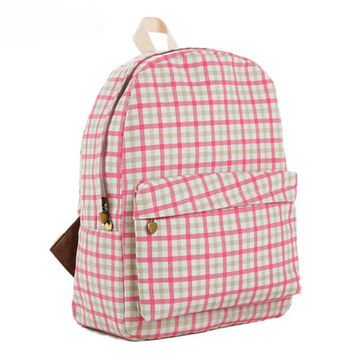 Lovely Korean Cute Canvas Backpack = 4888036612