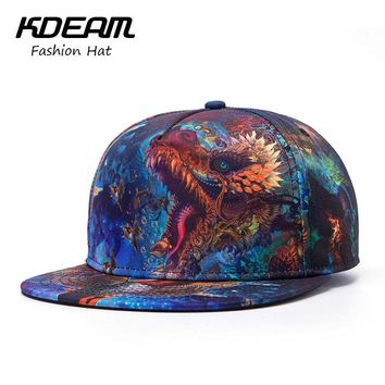 New Summer Caps 3D Dragon print design fashion men Baseball Cap women Beach hat caps