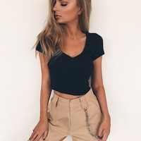 Buy Our Candice Crop in Black Online Today! - Tiger Mist