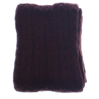 Private Label Cable Knit Blanket Throw