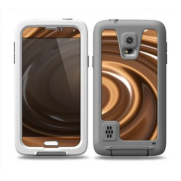 The Chocolate and Carmel Swirl Skin for the Samsung Galaxy S5 frē LifeProof Case