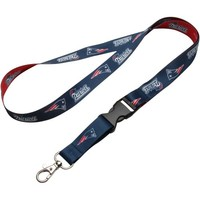 New England Patriots Breakaway Lanyard - Navy Blue/Red