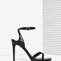 Nasty Gal Jaime Textured Heel - Black