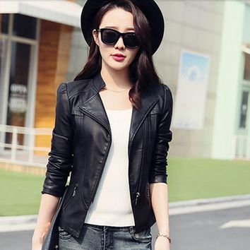2017 Limited Women Jaqueta Blazer Todays Deals Womens-autumn-jackets Fashion Jacket Bomber Motorcycle Sexy Cheap Leather Coat