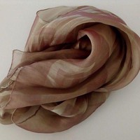 DCCKRQ5 CHANEL 100% SILK WRAP SHAWL SCARF AMAZING COLOR EFFECT 72CM X 158 CM VERY RARE