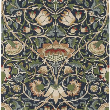 William Morris Arts And Crafts Area Rug Yellow Blue