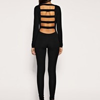 Long Sleeve Slash Back Unitard at ASOS