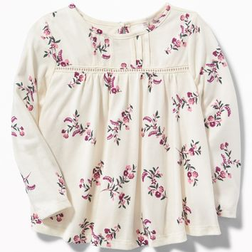 Pintuck Babydoll Top for Toddler Girls |old-navy