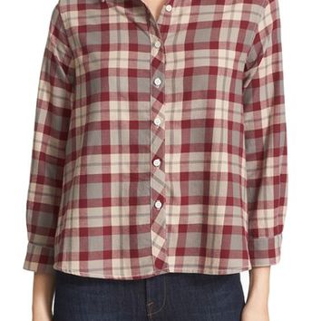 THE GREAT. Check Flannel Shirt | Nordstrom