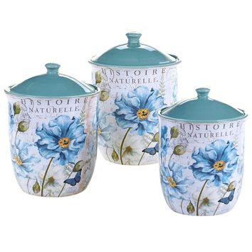 Certified International Tuileries Garden 3-pc. Kitchen Canister Set