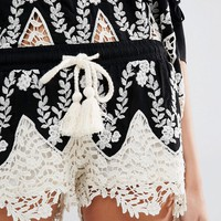 Surf Gypsy Embroidered Shorts