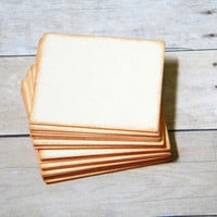 Distressed Manilla Blank Cards Tags Journaling Spots Place Cards Escort Cards1.75 x 1.75 Set of 50