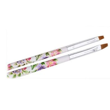 DCCKV2S Makeup Brushes,OVERMAL 5pcs UV Gel Acrylic Nail Art Brush Painting Pen Set Nail Design Manicure Tool