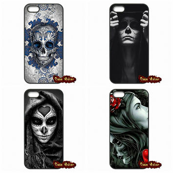 For Xiaomi Mi3 Mi4 Mi5 Redmi Note 2 3 Samsung Galaxy Alpha Ace 2 3 4 A3 A5 A7 J7 Sugar Skull Flower Pattern Phone Cover Case