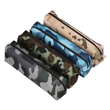 Super Deal 4 Colors Camouflage Pen Bag Pencil Brushes Pouch Stationery Cosmetic nag Makeup case maleta de maquiagem travel