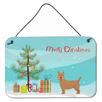 Airedale Terrier Christmas Tree Wall or Door Hanging Prints CK3444DS812