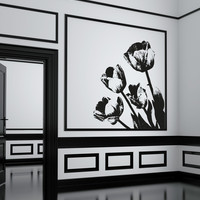Vinyl Wall Decal Sticker Tulips #OS_AA259