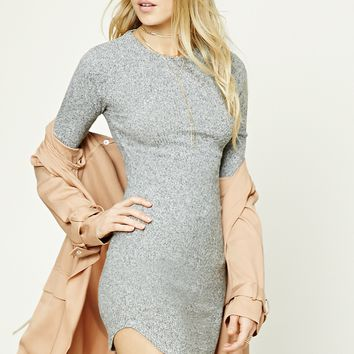 Fleece Knit Mini Dress